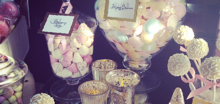Peckforton Castle Pastel Wedding Candy Buffet and Sweet Table