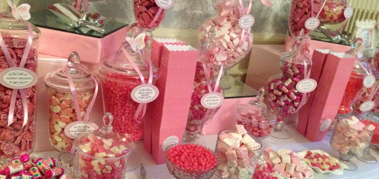 Pink Vegetarian Candy Buffet Hedsor House