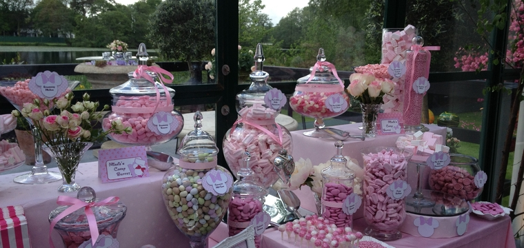 Pink Minnie Mouse Candy Buffet and Sweetie Table Alderley Edge Cheshire