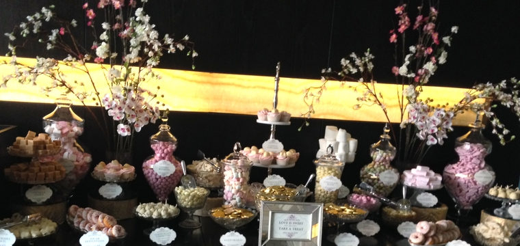 Royal Exchange London Dessert Table in Pinks