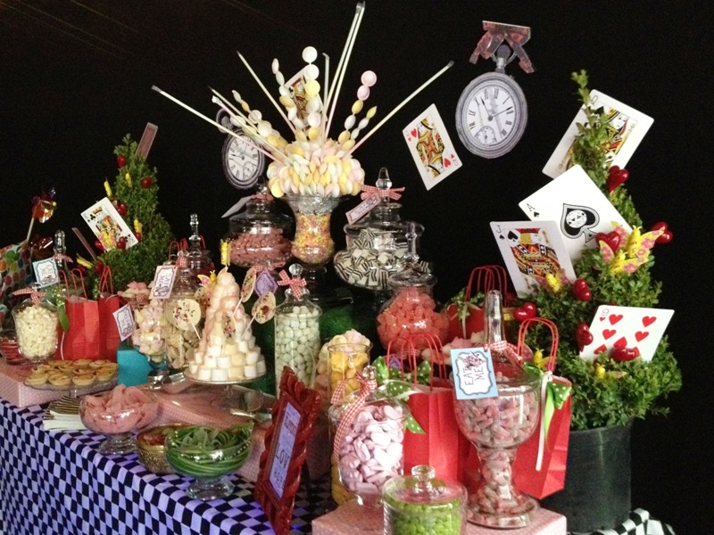 Candy Buffet Alice in Wonderland  Themed