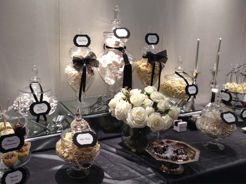 Black and White Glamour Dessert Table