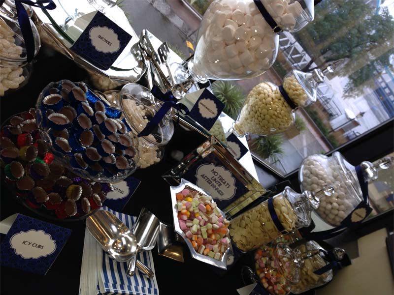 Blue Corporate Candy Buffet