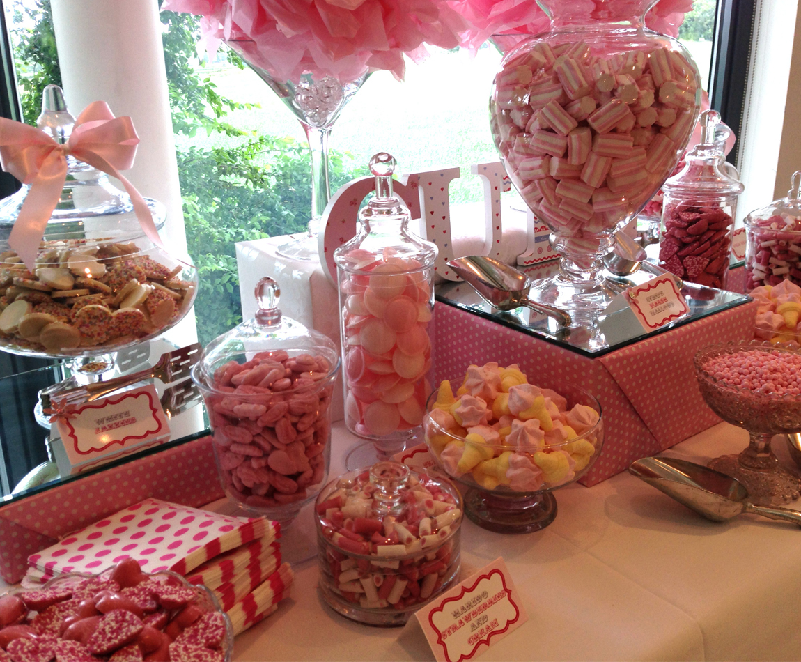 Pink Girly Candy Buffet