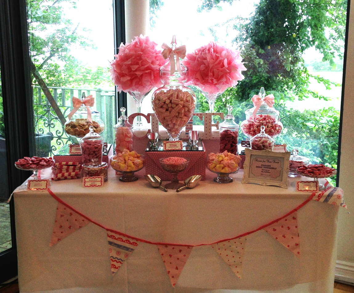 Pink Girly Candy Buffet Candy Buffets L Sweetie Tables L