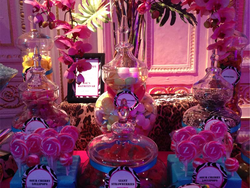 Candy Buffet in Pink Turquoise and Animal Print