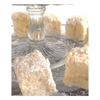 Fresh Passion Fruit  Marshmallows coated in coconut