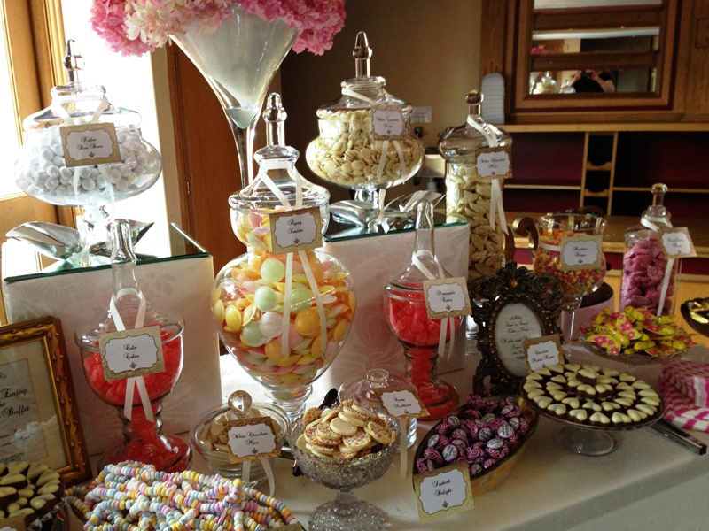 Wedding Candy Buffet in Pinks and Golds