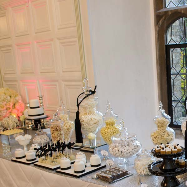 Black,White and Silver Chanel inspired Dessert and Sweet Table