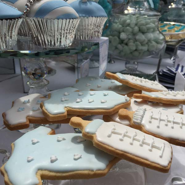 Blue Teddy Themed baby shower