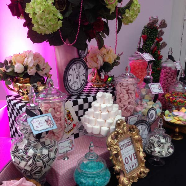 Pink Alice in Wonderland Sweetie Table