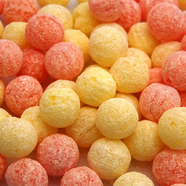 Orange lemon fizz balls