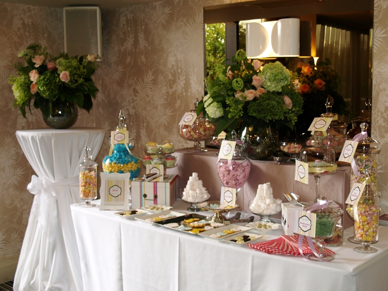 Candy Buffet for Alex Gerrard Baby Shower