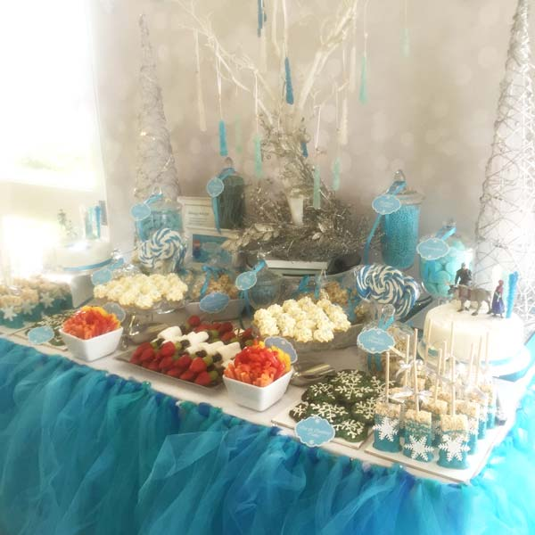 Frozen Themed Kids Party Candy Buffet