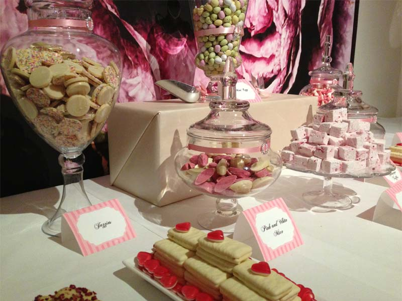 Pink Truffle and Marshmallow Candy Buffet
