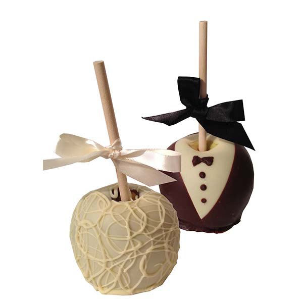 Bride and Groom Chocolate Apple