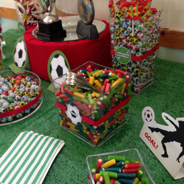 Football Themed Kids Party Candy Buffet