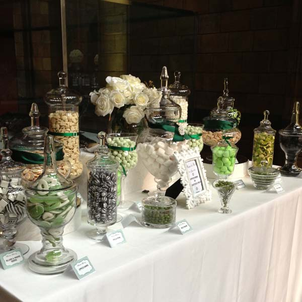 Wedding Candy Buffet in Emerald Green