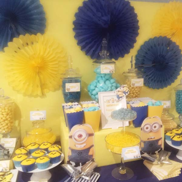 Minion Themed Kids Party Dessert Table