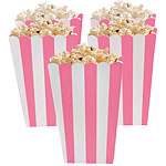 Pale Pink Striped Popcorn boxes x5