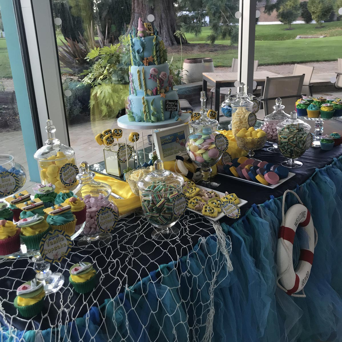 Songebob Squarepants Themed Kids Party Candy Buffet