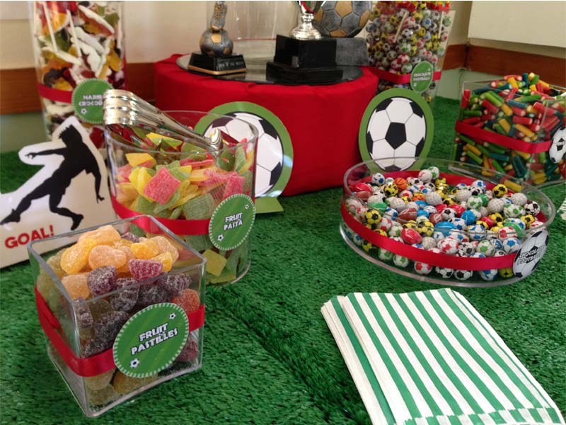 Football Themed Kids Party Candy Buffet Candy Buffets L