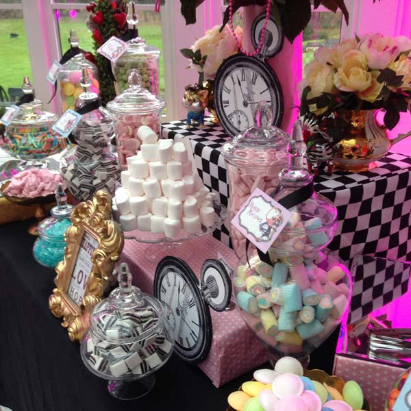 Pink Alice In Wonderland Sweetie Table Candy Buffets L