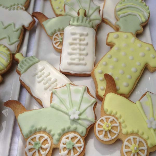 Set of 10 Baby Shower Iced Biscuits