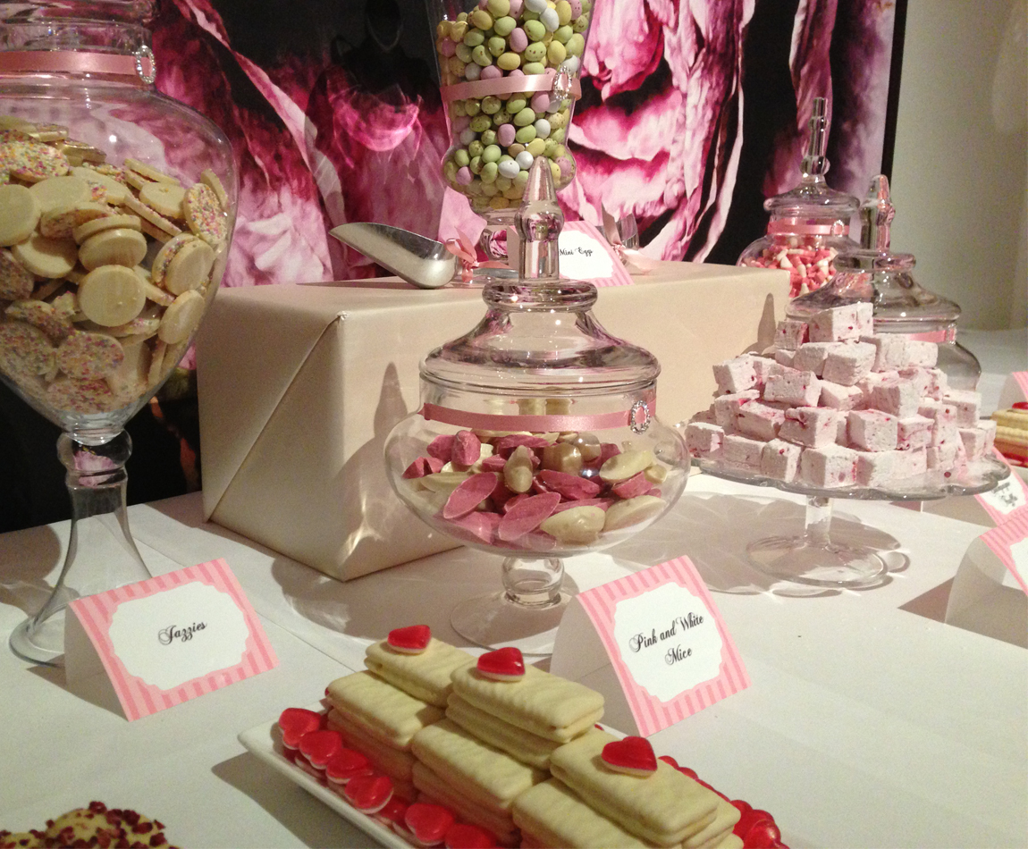 Pink Truffle And Marshmallow Candy Buffet Candy Buffets