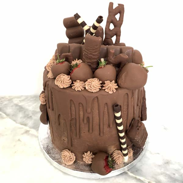 Chocolate Buttercream Drip Cake