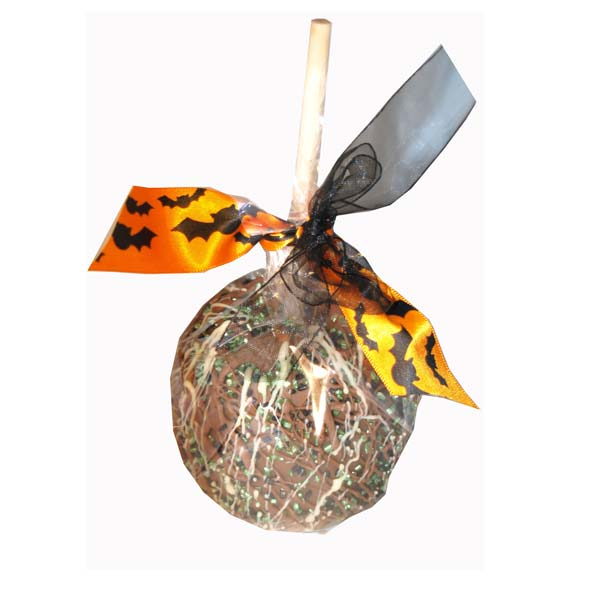 Halloween Toffee and Chocolate Apple in Green
