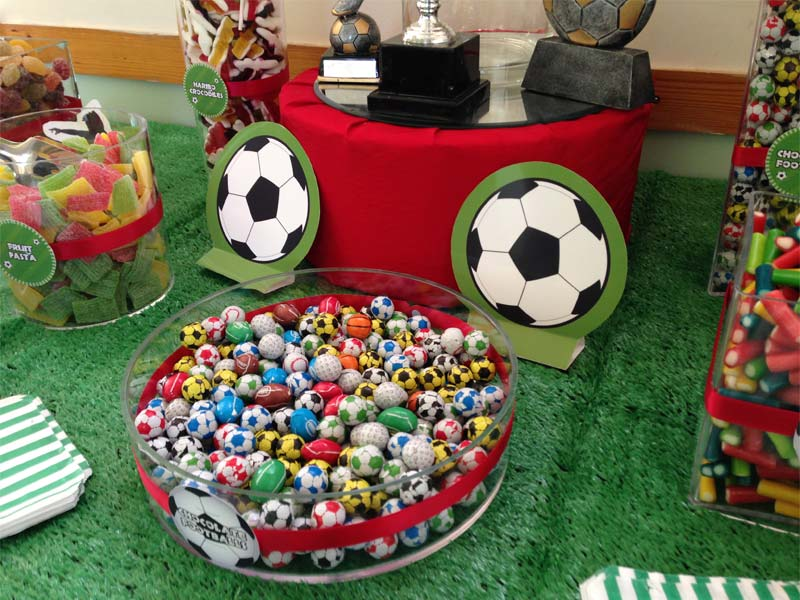 Football Themed Kids Party Candy Buffet Buffets L