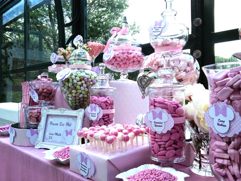 Awesome Candy Buffet Pink Minnie Mouse Candy Buffets L Sweetie Interior Design Ideas Tzicisoteloinfo
