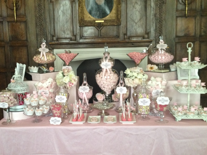 Fabulous Wedding Candy Buffet In Vintage Pink Candy Buffets L Download Free Architecture Designs Embacsunscenecom