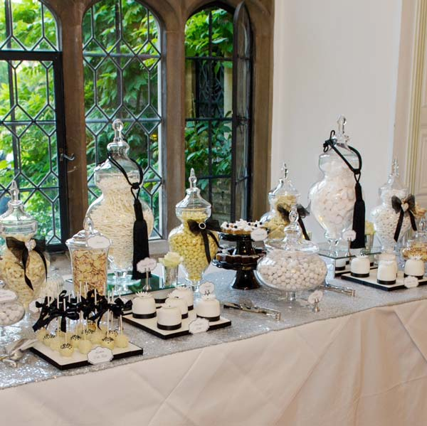 Blackwhite And Silver Chanel Inspired Dessert And Sweet Table