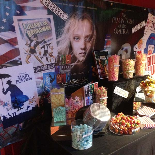 Broadway Themed Sweetie Table