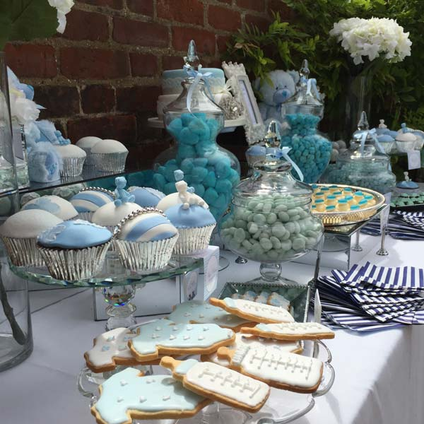 Blue Teddy Themed Baby Shower Candy Buffets L Sweetie Tables L