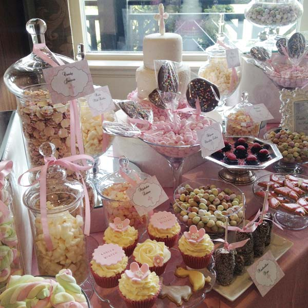pink dessert table candy buffets l sweetie tables l dessert tables l handmade truffles and. Black Bedroom Furniture Sets. Home Design Ideas