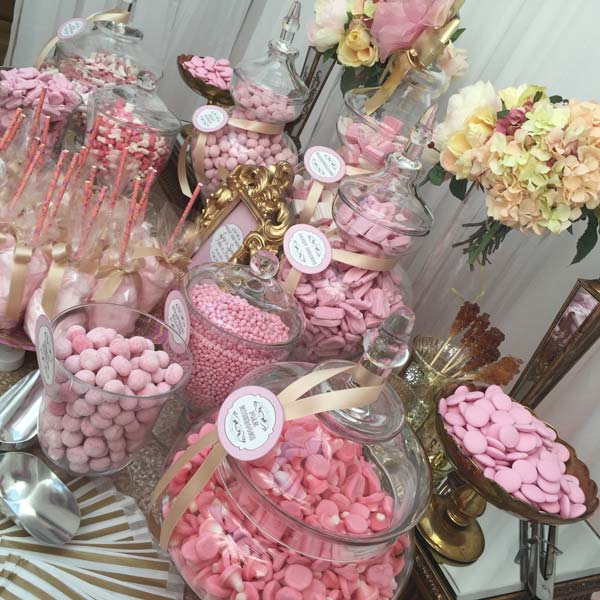 Wedding Sweetie Table Table Pink And Gold Candy Buffets L Sweetie