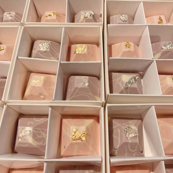 Hand Made 24ct Gold Chocolate Pyramids
