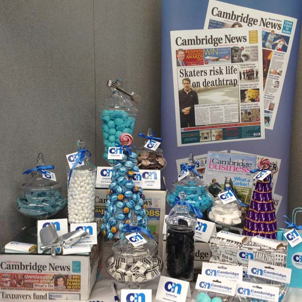 Corporate Candy Buffet and Sweetie Table for Cambridge News