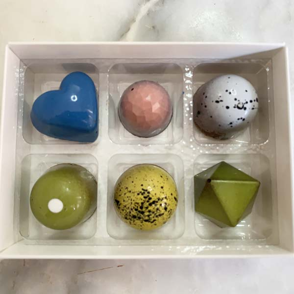 Artisan chocolate truffles box of 6