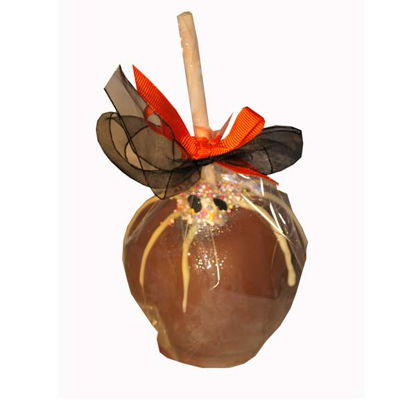Halloween Toffee and Chocolate Apple Spider