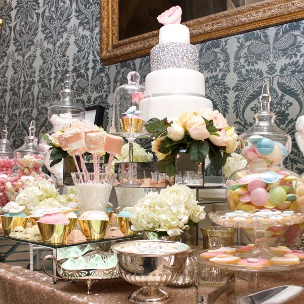 Candy buffet wedding candy buffets l sweetie tables l dessert gold and pastels dessert and sweet table watchthetrailerfo