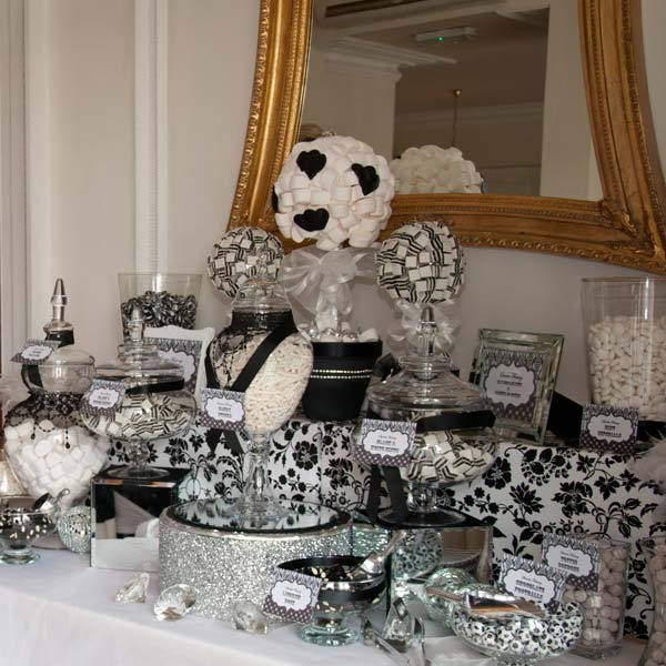 Candy Buffet in Black and White