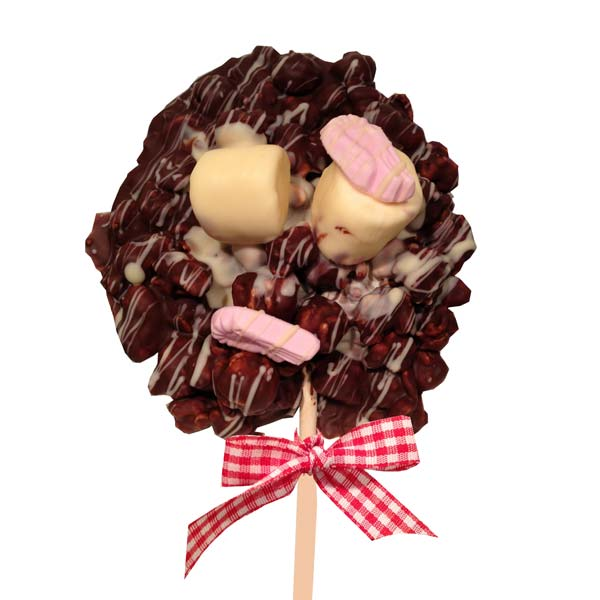 Chocolate Popcorn Lollie