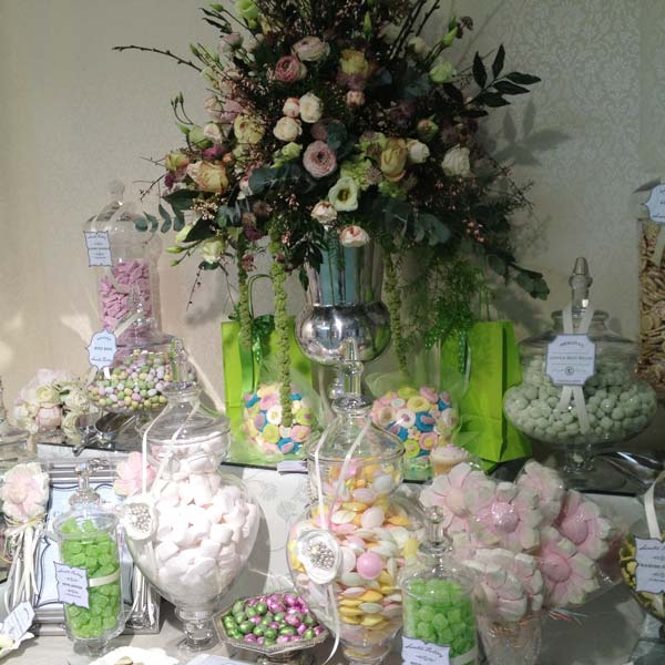 Wedding Candy Buffet in Green