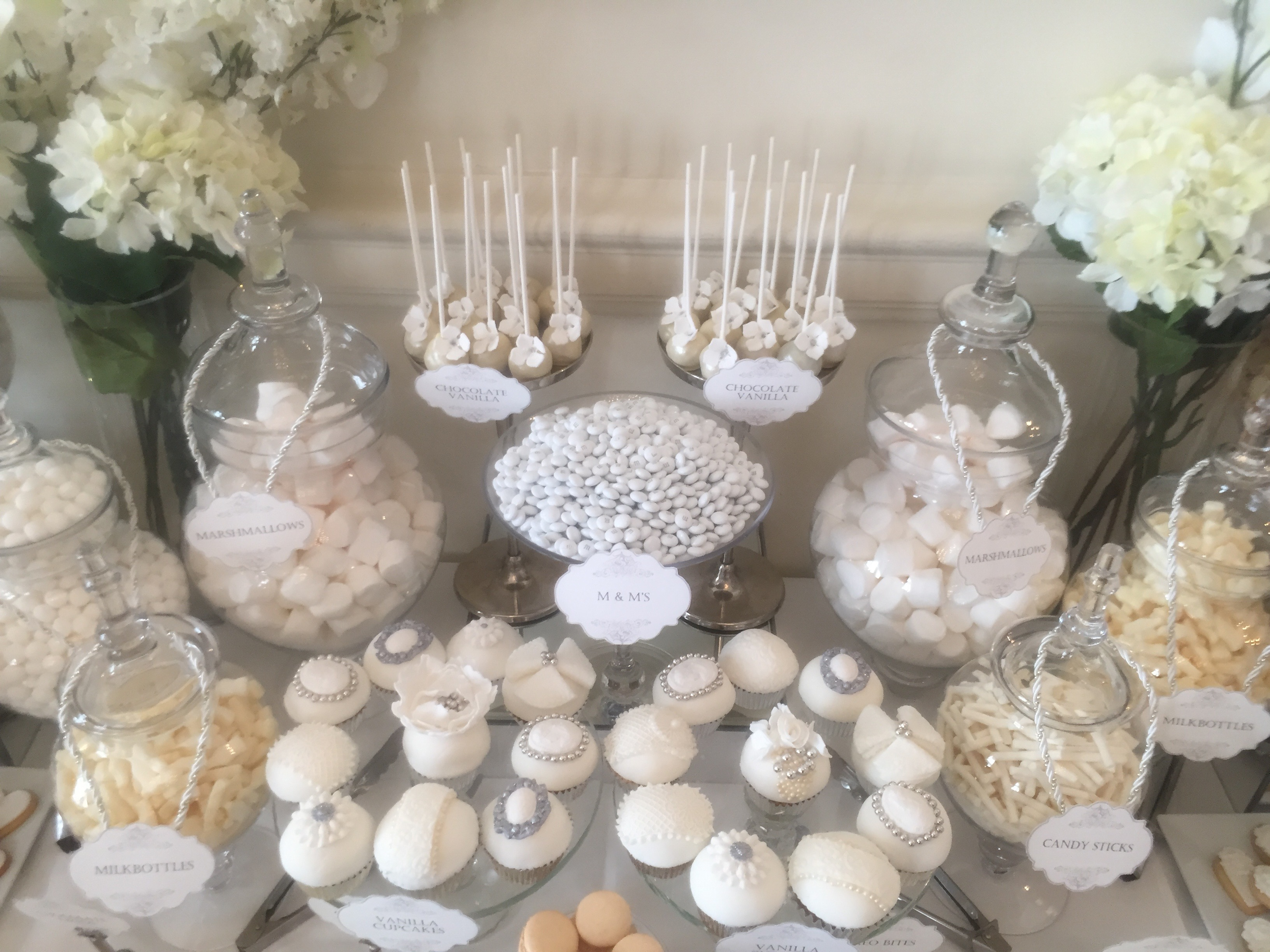 Wedding Dessert Table In White Candy Buffets L Sweetie